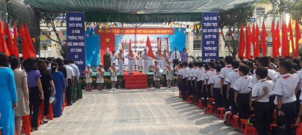 Trường THCS Đốc Binh Kiều tổ chức lễ công nhận Trường chuẩn Quốc Gia