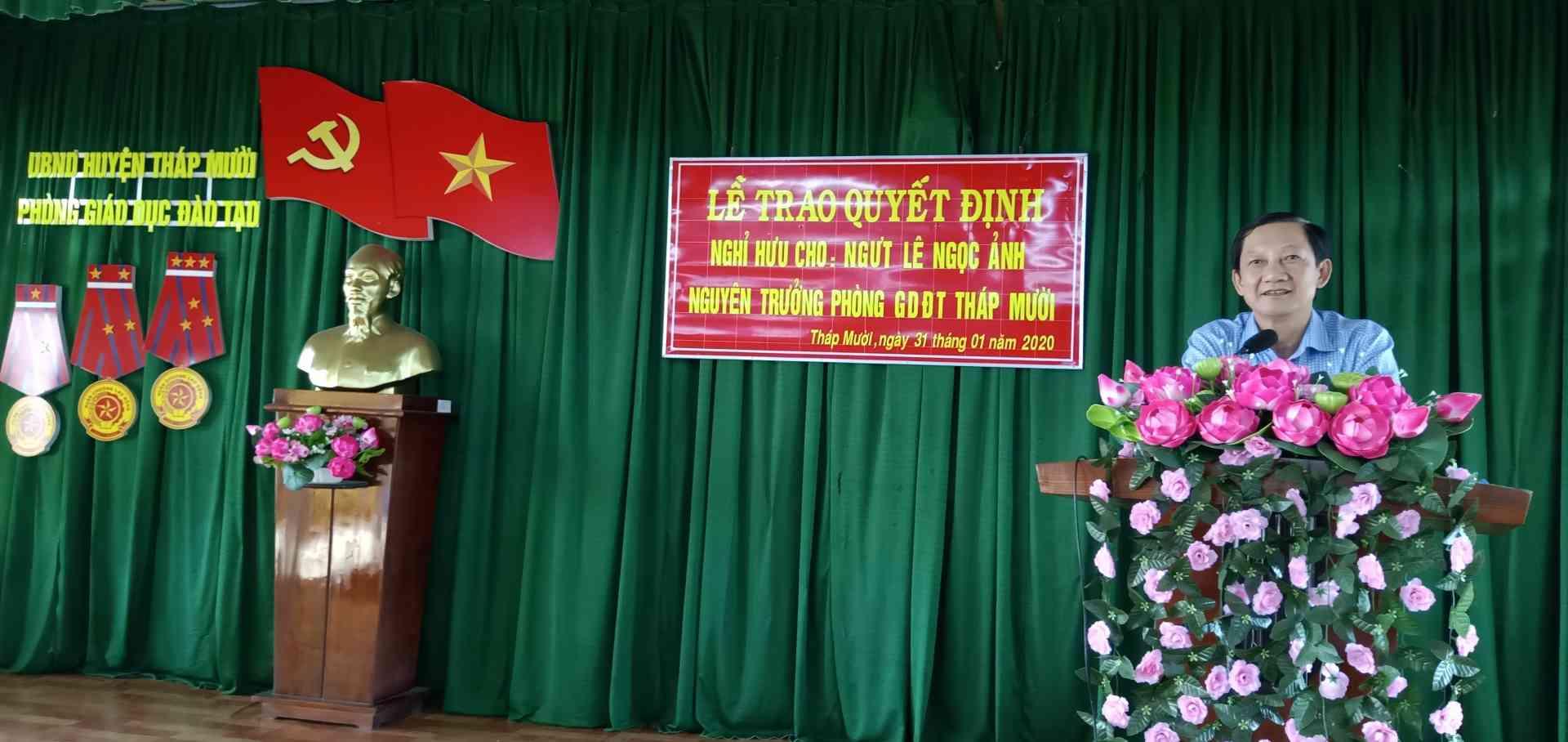 Ông Đinh Minh Dũng phát biểu