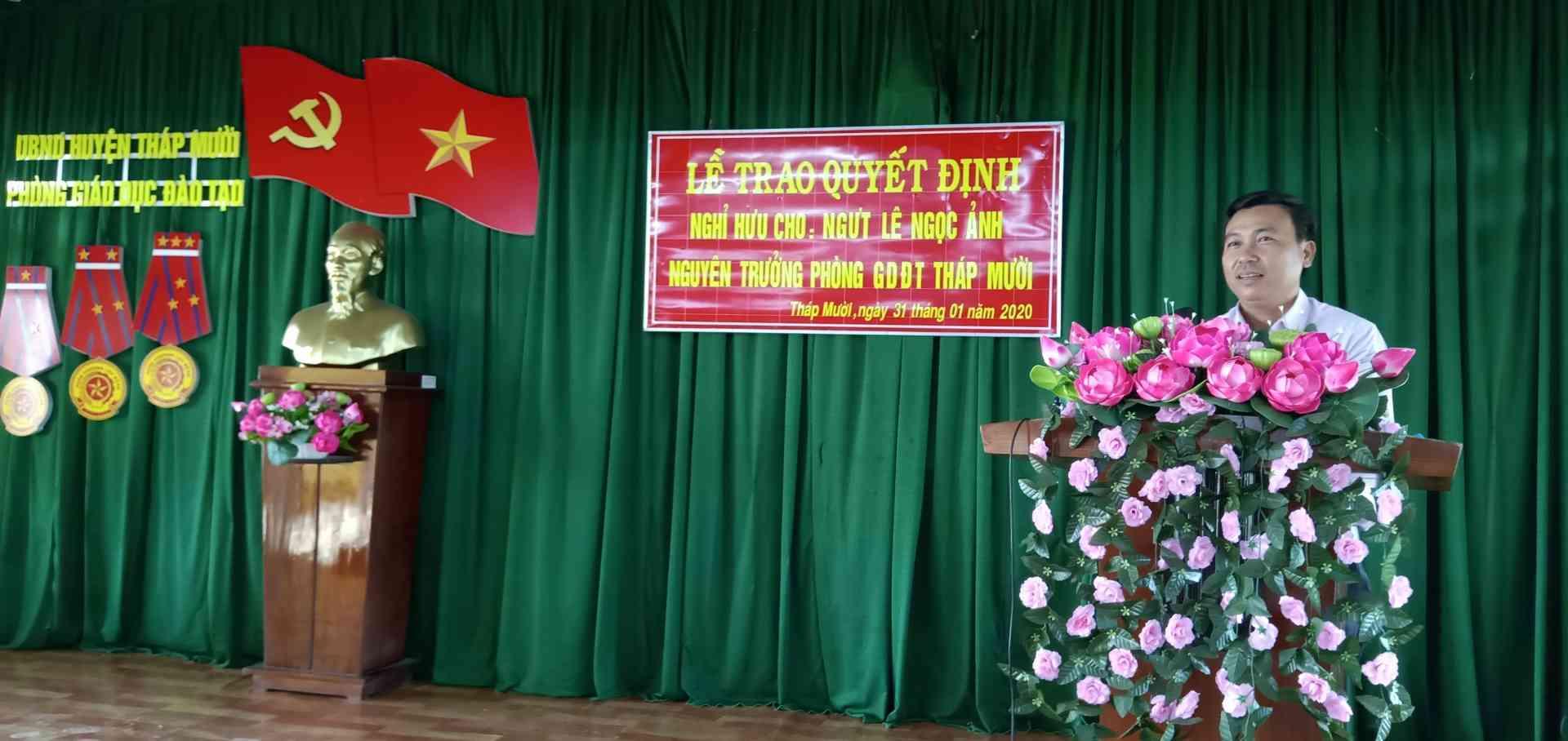 Ông Ngô Thanh Sang, PTP phát biểu